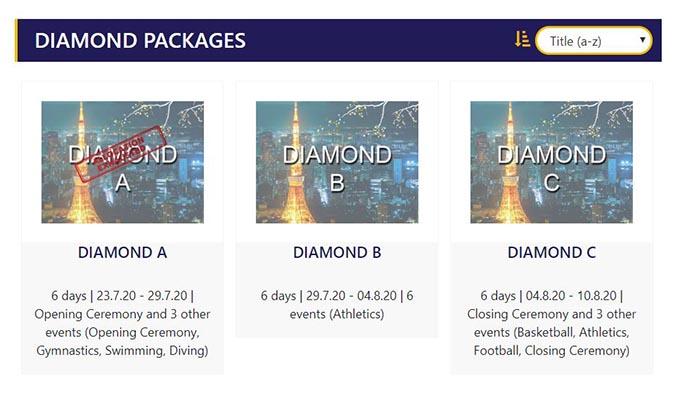 オリンピックチケットの外国人枠 ダイアモンド