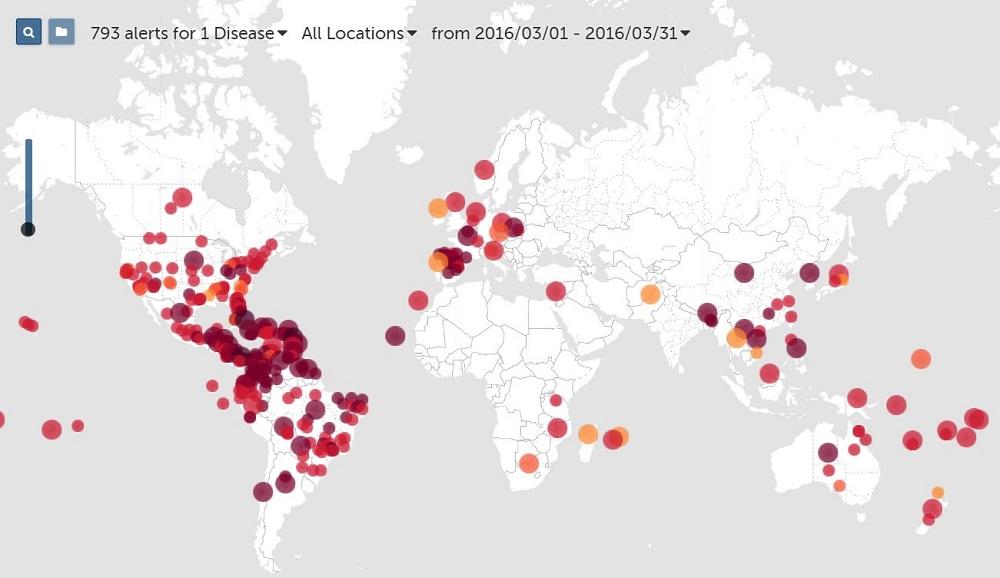 2016年リオデジャネイロオリンピック時ジカ熱の感染状況